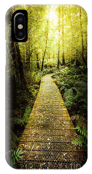 Track iPhone Case - Lush Green Rainforest Walk by Jorgo Photography - Wall Art Gallery