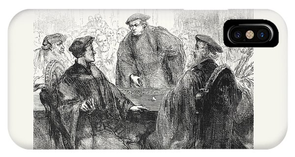 Luther And Zwingle Discussing At Marburg IPhone Case
