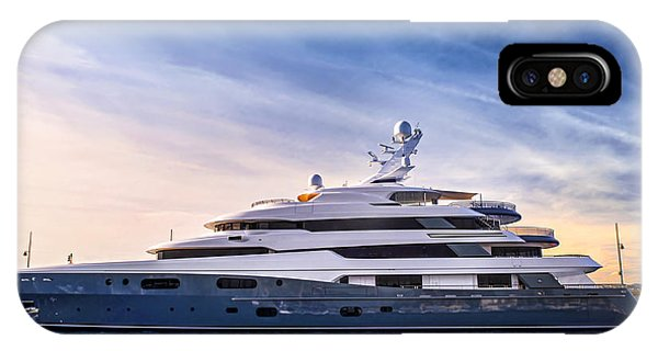 Docked Boats iPhone Case - Luxury Yacht by Elena Elisseeva