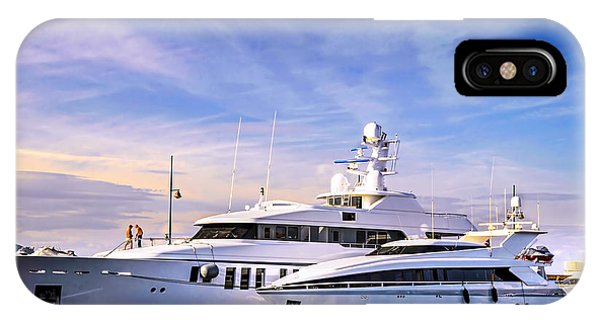 French Riviera iPhone Case - Luxury Yachts by Elena Elisseeva