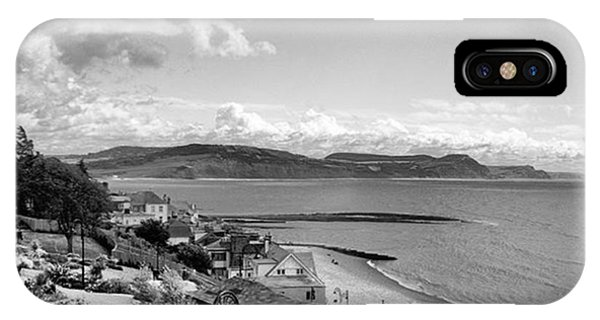 Skies iPhone Case - Lyme Regis And Lyme Bay, Dorset by John Edwards
