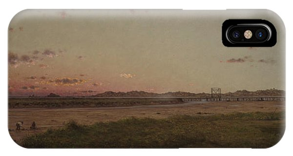 Tidal Marsh iPhone Case - Lynn Meadows, 1863 by Martin Johnson Heade