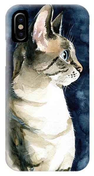 Lynx Point Cat Portrait IPhone Case
