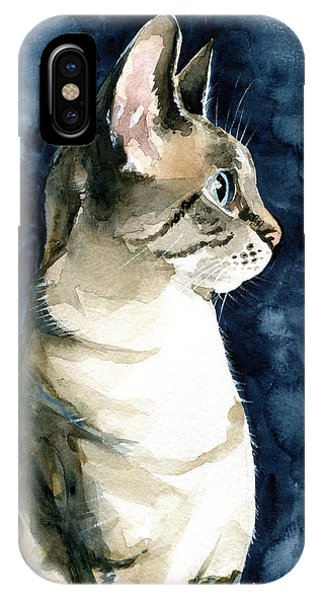 Lynx Point Cat Portrait IPhone Case