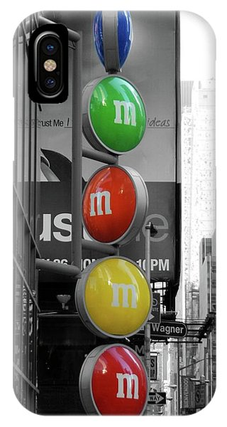 M And Ms In New York City IPhone Case