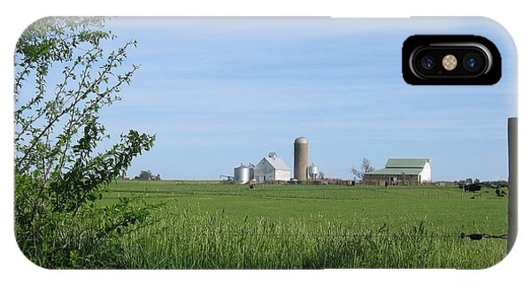 IPhone Case featuring the photograph M Angus Farm by Dylan Punke