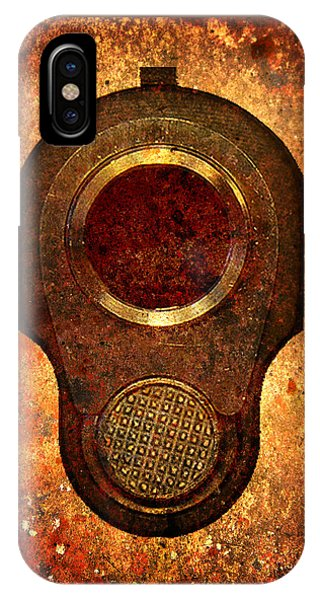 M1911 Muzzle On Rusted Background IPhone Case