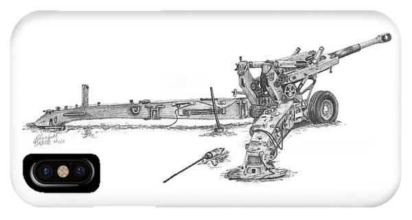 M198 Howitzer - Standard Size Prints IPhone Case