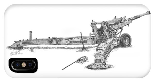 M198 Howitzer - Natural Sized Prints IPhone Case