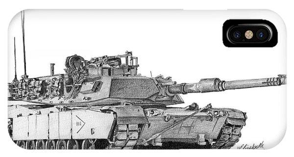 M1a1 B Company 3rd Platoon Commander IPhone Case