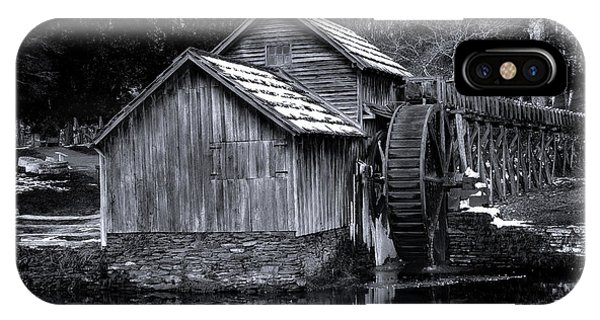 Mabry Mill Bw Light Snow IPhone Case