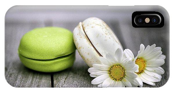 Daisy iPhone X Case - Macarons by Nailia Schwarz
