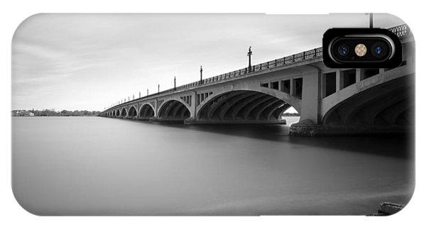 Renaissance Center iPhone Case - Macarthur Bridge To Belle Isle Detroit Michigan by Gordon Dean II