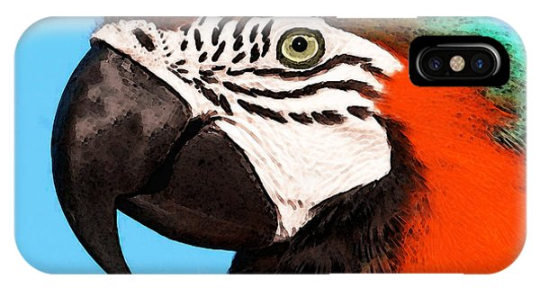 Macaw iPhone Case - Macaw Bird - Rain Forest Royalty by Sharon Cummings