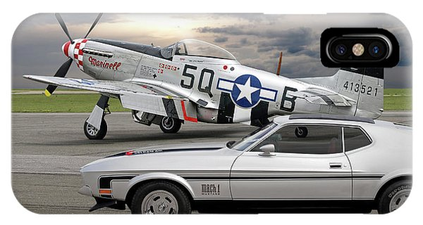 Mach 1 Mustang With P51  IPhone Case