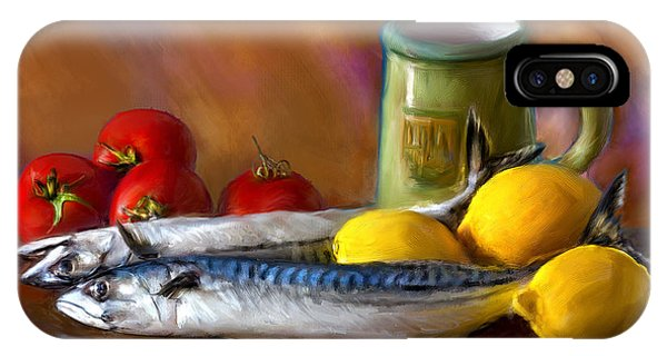 Mackerels, Lemons And Tomatoes IPhone Case