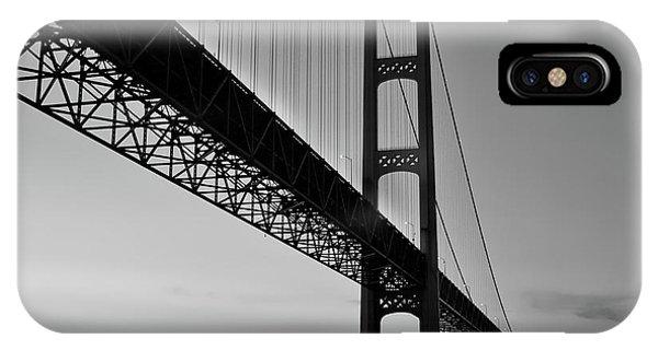 Mackinac Bridge At Sunset IPhone Case