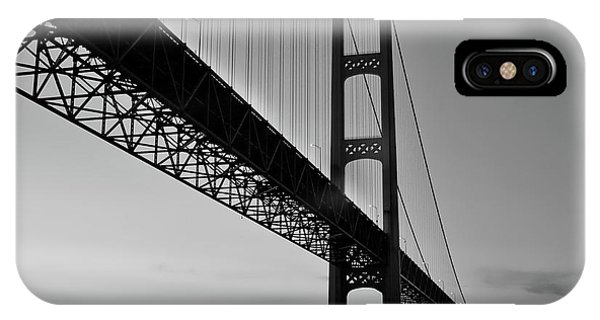 IPhone Case featuring the photograph Mackinac Bridge At Sunset by Jackson Pearson