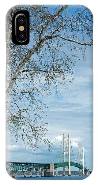 Mackinac Bridge Birch IPhone Case