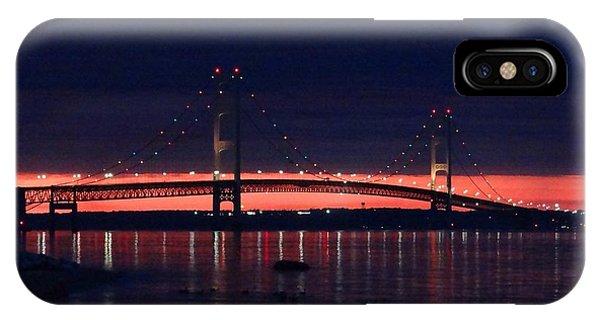 Mackinac Bridge On A June Evening IPhone Case