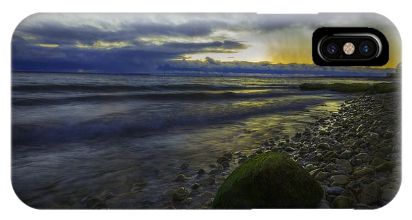 IPhone Case featuring the photograph Mackinaw Island Sunset by Owen Weber