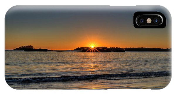 Mackinsie Beach Sun Burst IPhone Case