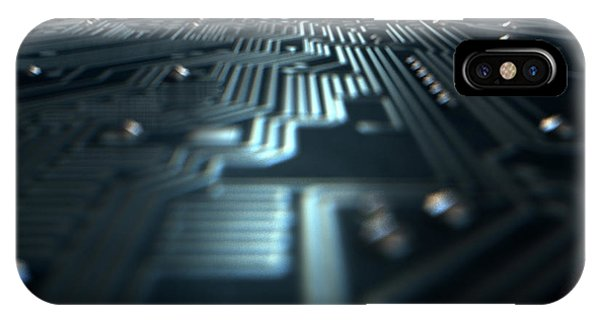 Macro Circuit Board Technology IPhone Case