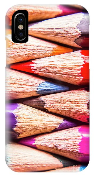 School iPhone Case - Macro Coloured Pencil Crossover by Jorgo Photography - Wall Art Gallery