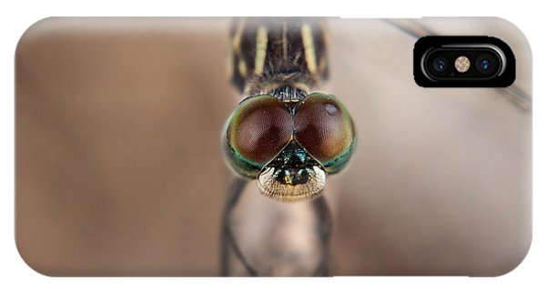 Macro Dragonfly IPhone Case