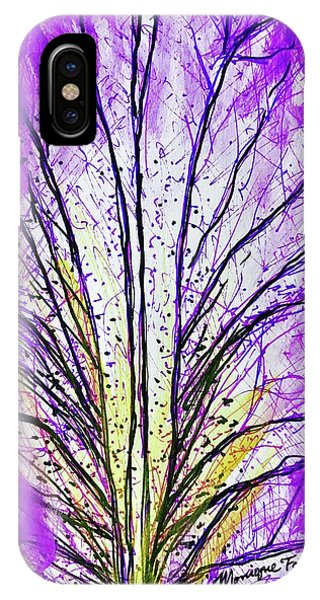 Macro Iris Petal IPhone Case