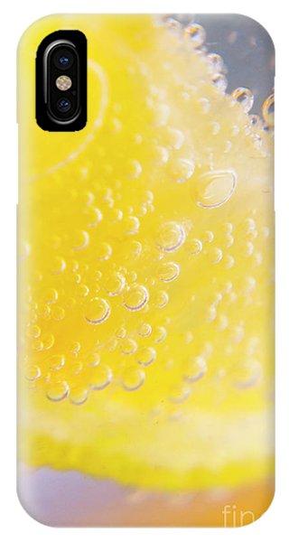 Closeup iPhone Case - Macro Lemonade Bubbles by Jorgo Photography - Wall Art Gallery