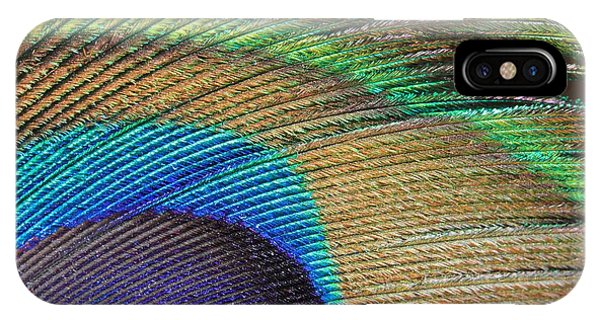Macro Peacock Feather IPhone Case