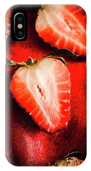 Macro Shot Of Ripe Strawberry IPhone Case