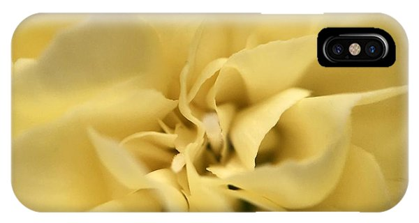 IPhone Case featuring the photograph Macro Yellow Rose by Marian Palucci-Lonzetta