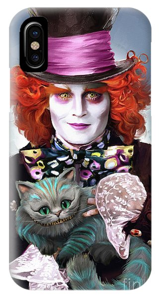 Mad Hatter And Cheshire Cat IPhone Case