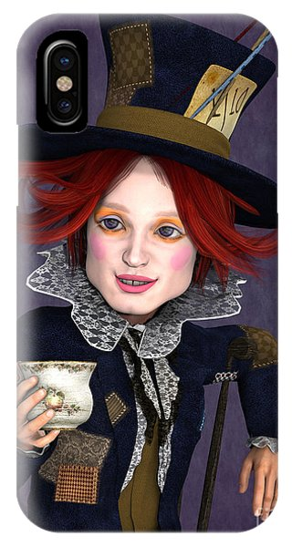 Mad Hatter Portrait IPhone Case