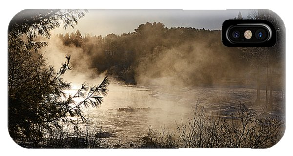Madawaska River Sunrise Mist IPhone Case
