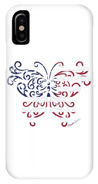 Made In The Usa Tribal Butterfly IPhone Case