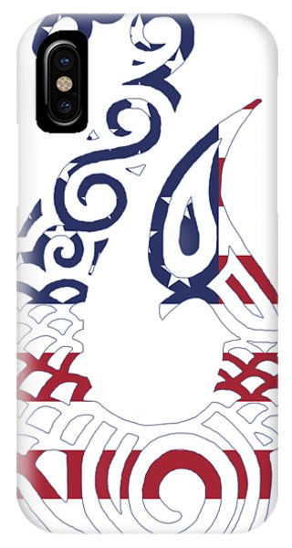 Made In The Usa Tribal Fish Hook IPhone Case