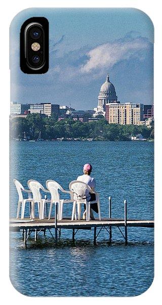 Madison Capitol Across Lake Mendota IPhone Case