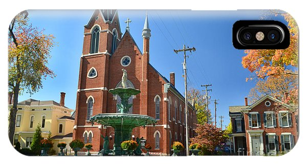 Madison Church And Water Fountain IPhone Case