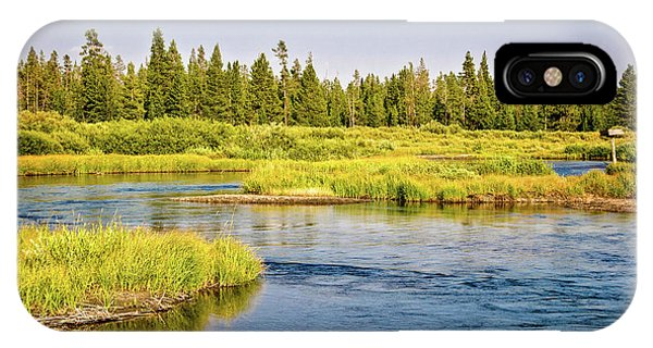Yellowstone National Park iPhone Case - Madison River by Delphimages Photo Creations