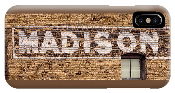 Madison Sign- Madison, Wi IPhone Case