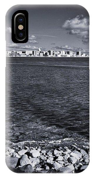 Madison Skyline - Black And White IPhone Case