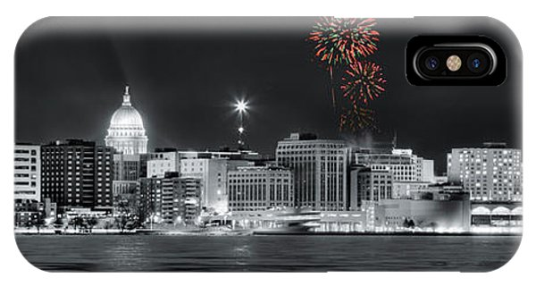 Madison - Wisconsin - New Years Eve Fireworks 3 IPhone Case