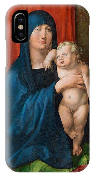 Albrecht Durer iPhone Case - Madonna And Child by Albrecht Durer