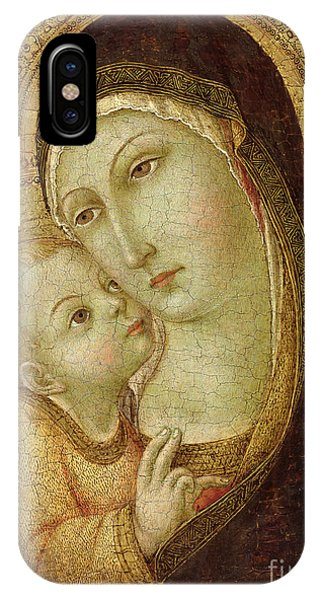 Panel iPhone Case - Madonna And Child by Ansano di Pietro di Mencio
