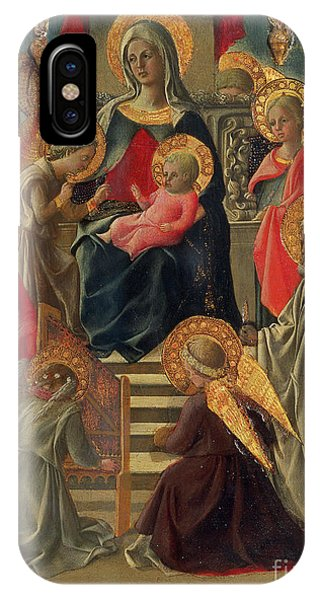 Madonna And Child Enthroned With Angels And Saints IPhone Case