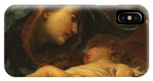 Christian Cross iPhone Case - Madonna And Child by Giuseppe Maria Crespi
