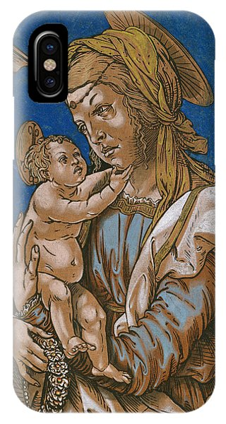 Madonna And Child Under An Arch IPhone Case